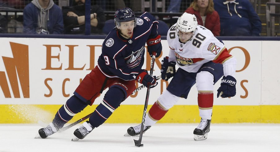 Artemi Panarin leads the Columbus Blue Jackets with 18 points through as many games.