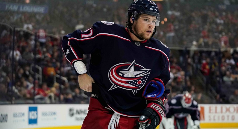 Josh Anderson is leading the Columbus Blue Jackets in the plus/minus category with a plus-11.
