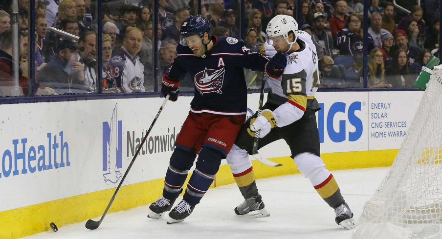Boone Jenner leads the Columbus Blue Jackets with 244 faceoffs won on the season.