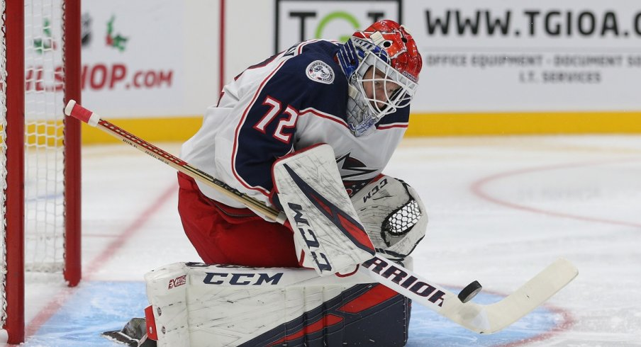 Sergei Bobrovsky was excellent in the Blue Jackets 4-3 win over the Philadelphia Flyers