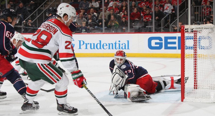 Sergei Bobrovsky had his second shutout in less than a week and recorded 39 saves against the New Jersey Devils.
