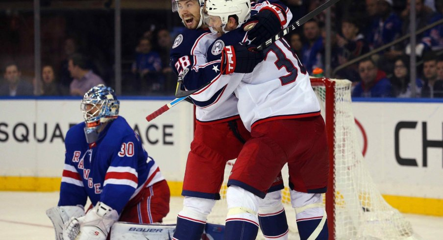 Oliver Bjorkstrand has been back in the Columbus Blue Jackets' lineup as of late, and scored an early goal against the New Jersey Devils on Dec. 23.
