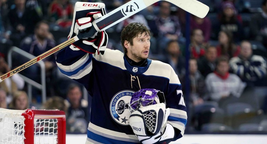 Sergei Bobrovsky is averaging a 2.87 GAA and has recorded 2 shutouts on the season for the Columbus Blue Jackets.