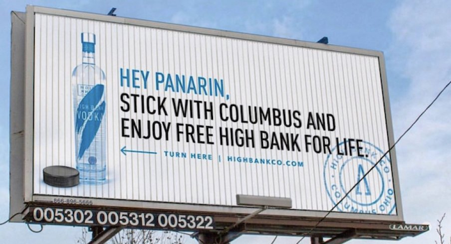 Columbus-based High Bank Distillery is offering Artemi Panarin free liquor for life if he decides to re-sign with the Blue Jackets.
