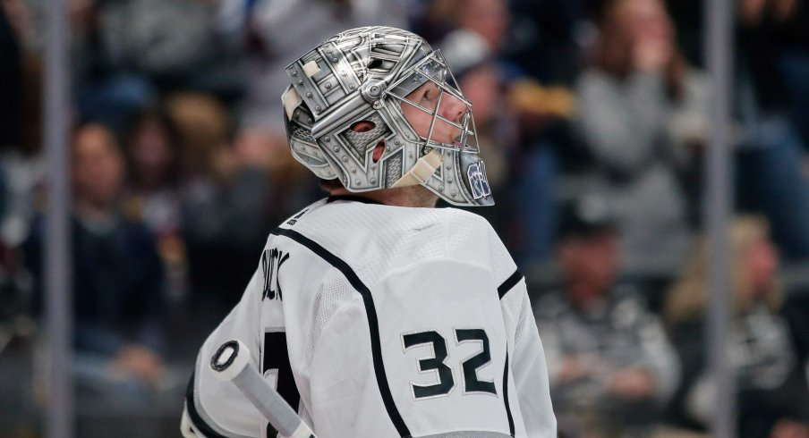 Jonathon Quick for the Los Angeles Kings has just ten wins on the year and has played in only 26 games. His .903 save percentage is the worst in the past six seasons, and his 2.97 goals against average is his worst since his rookie year.
