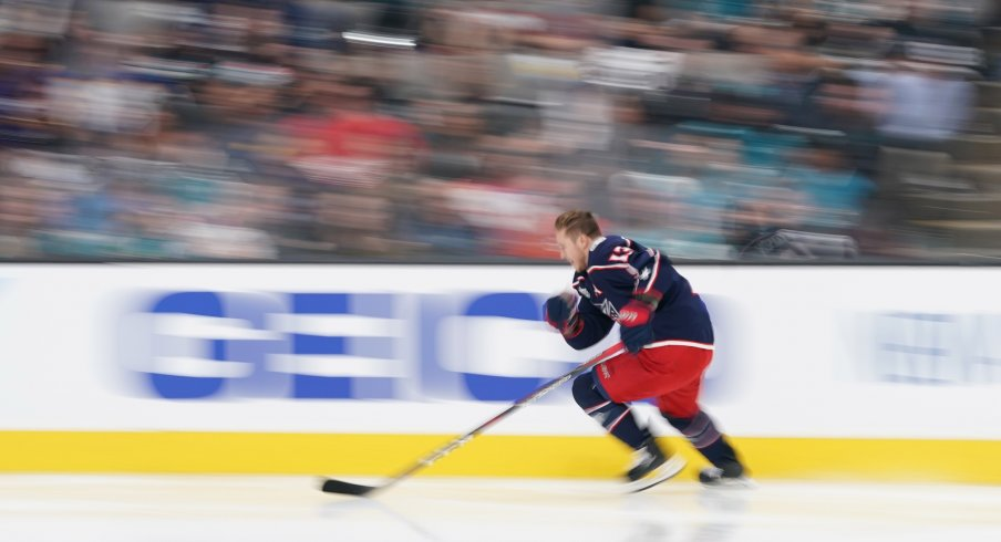 detailed look a5c32 9bc19 Cam Atkinson Becomes Only Sixth Blue Jacket to Play In 500 ...