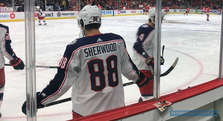 Kole Sherwood making his NHL debut in Chicago.