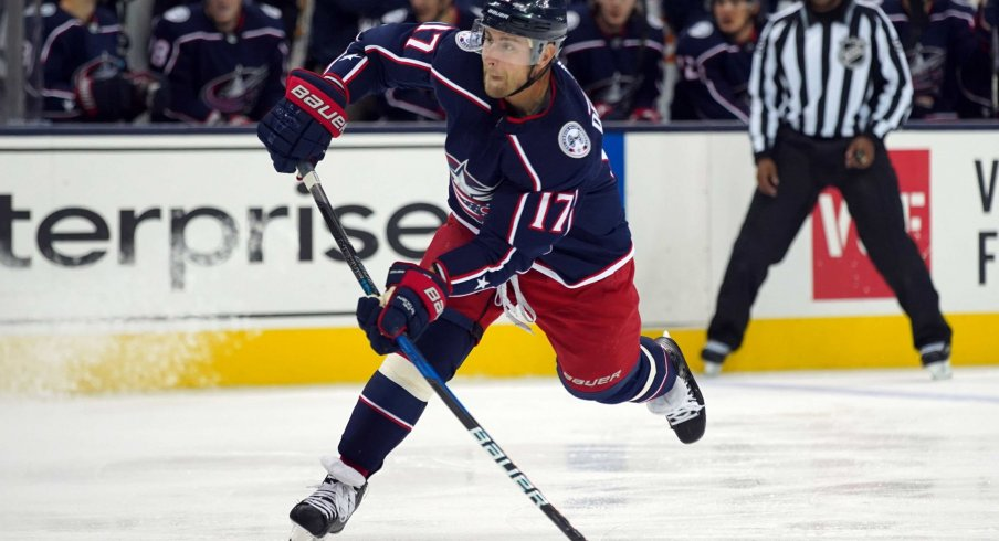 Brandon Dubinsky has 11 points through 37 games for the Columbus Blue Jackets.