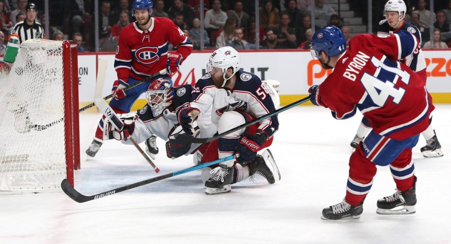 Paul Byron beats Sergei Bobrovsky for a 2-0 lead at Bell Centre