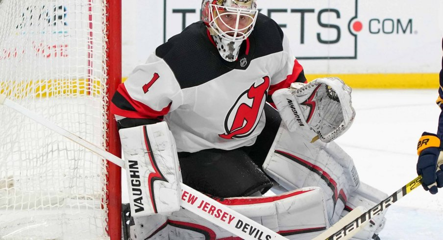 Keith Kinkaid has a record of 15-8-6 for the New Jersey Devils on the season.