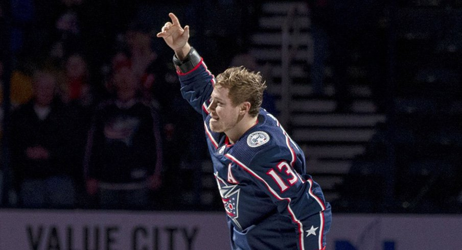 Cam Atkinson had two goals in the Blue Jackets' 4-1 win over the Penguins Saturday night.