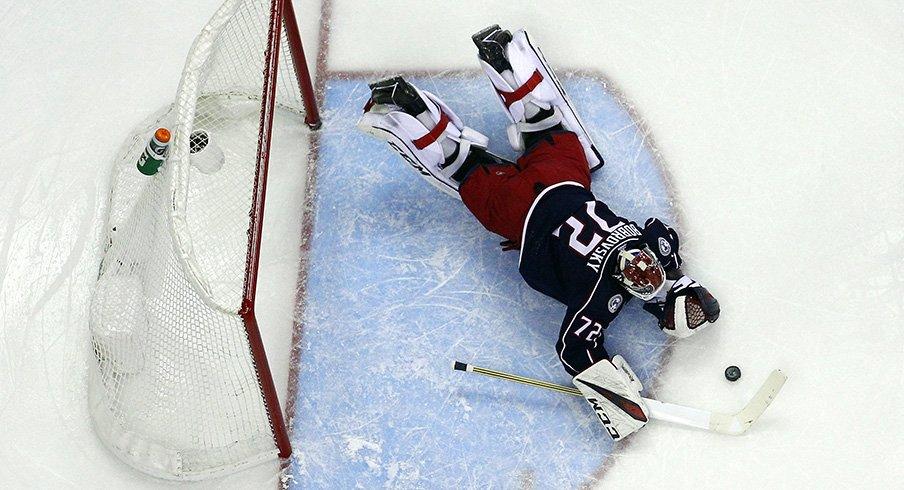 Sergei Bobrovsky was on fire Tuesday night against the Islanders.