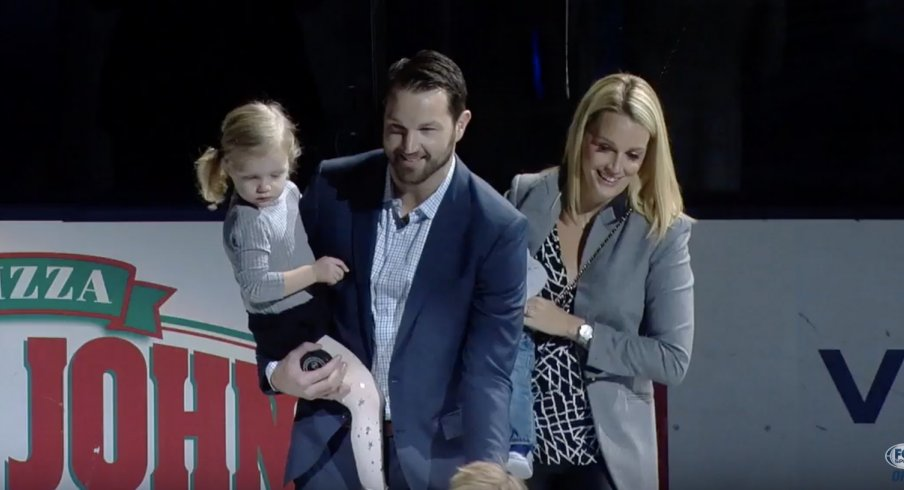 On Jan. 14, Rick Nash returned to Nationwide Arena to drop the puck ahead of the Columbus Blue Jackets versus New York Rangers game, just after his retirement announcement.