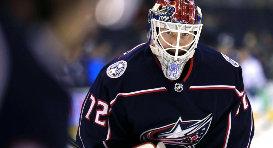 Sergei Bobrovsky has allowed 12 goals in two games against the Tampa Bay Lightning this season for the Columbus Blue Jackets