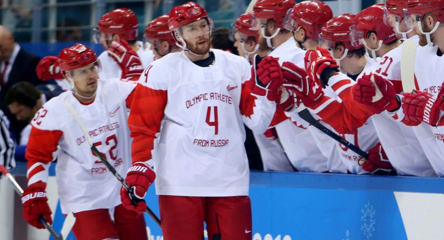 Vladislav Gavrikov (4) was the Columbus Blue Jackets' sixth round pick in the 2015 NHL Draft.