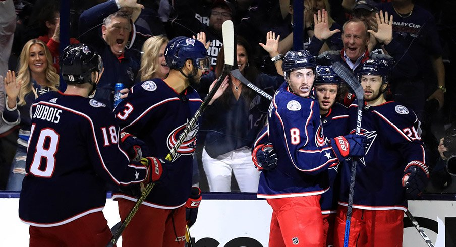 The Blue Jackets are hoping to celebrate Monday night in Columbus.