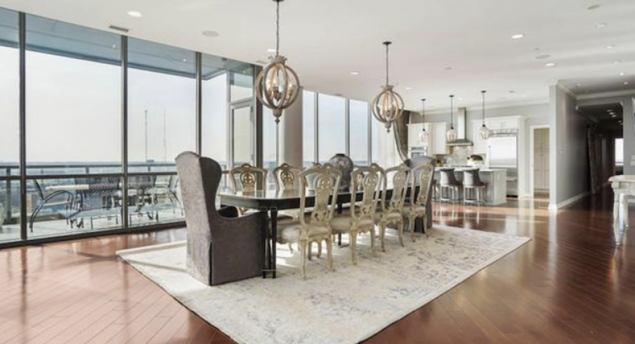 Sergei Bobrovsky's spectacular downtown condo is officially on the housing market.