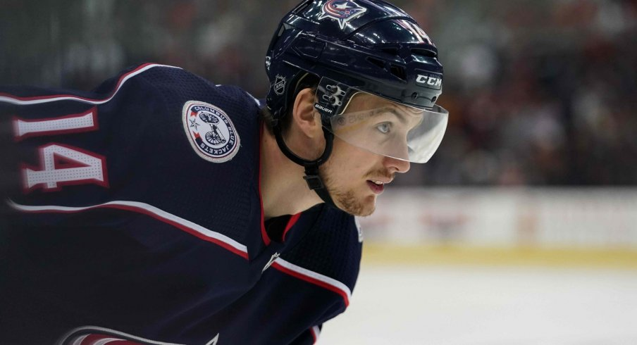 Dean Kukan had five points in 25 games played for the Columbus Blue Jackets this past regular season.