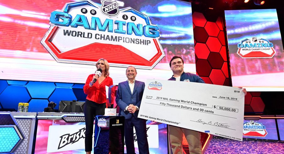 Matt Gutkoski, aka Top-Shelf-Cookie, took home $50,000 with his NHL World Gaming Championship victory in Las Vegas on Wednesday.