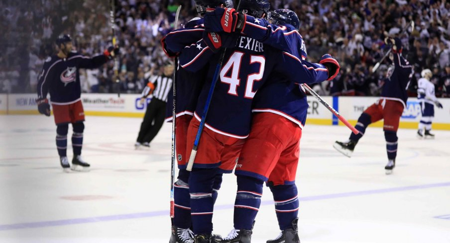 The Columbus Blue Jackets scored 258 goals in 2018-2019, the most in a single season in franchise history.