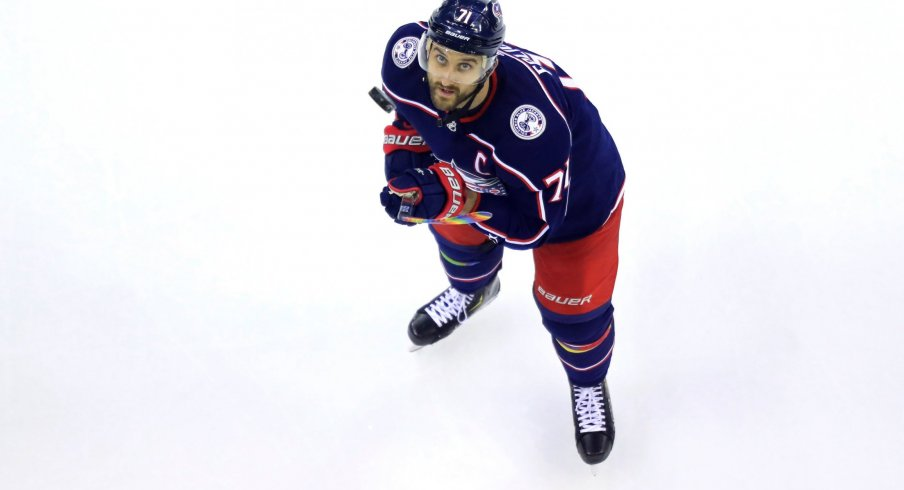 Nick Foligno put up 35 points during the 2018-2019 season for the Columbus Blue Jackets.