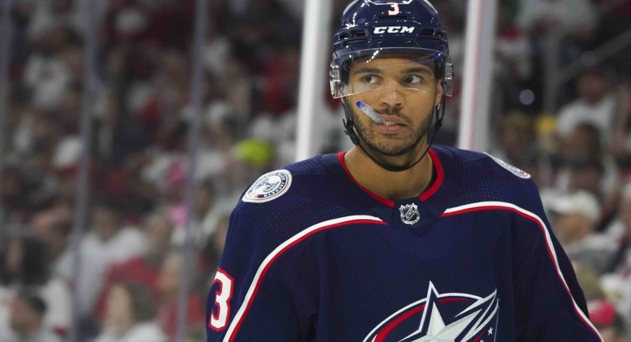 Seth Jones has three goals and 12 assists through 26 games with the Columbus Blue Jackets this season.