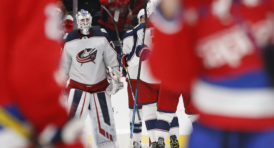 Joonas Korpisalo is averaging a .903SV% and 2.81 GAA this season for the Columbus Blue Jackets.