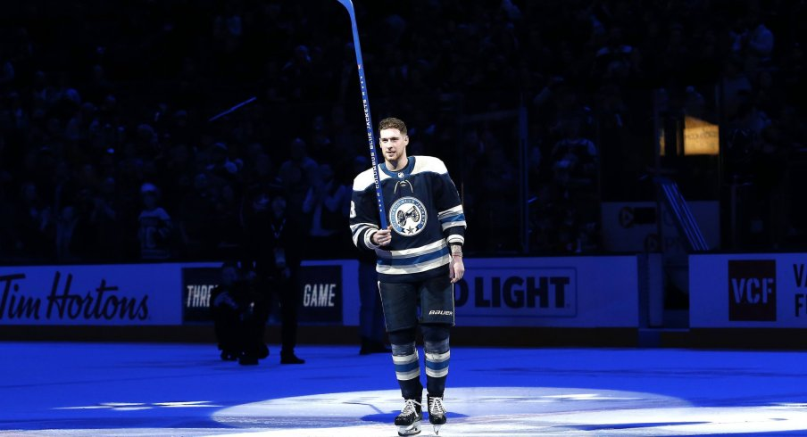 Pierre-Luc Dubois is leading the Columbus Blue Jackets in points with 41 through 53 games.