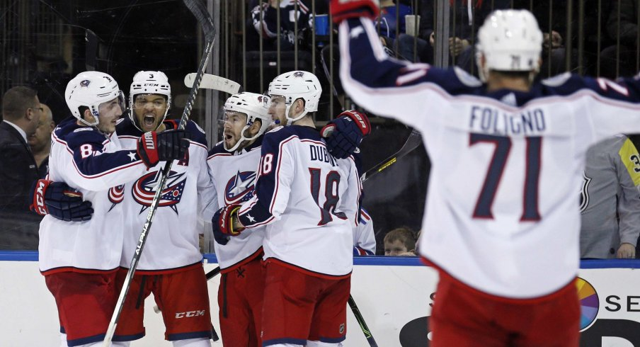 The Columbus Blue Jackets have posted a 9-0-1 record in their last ten games.