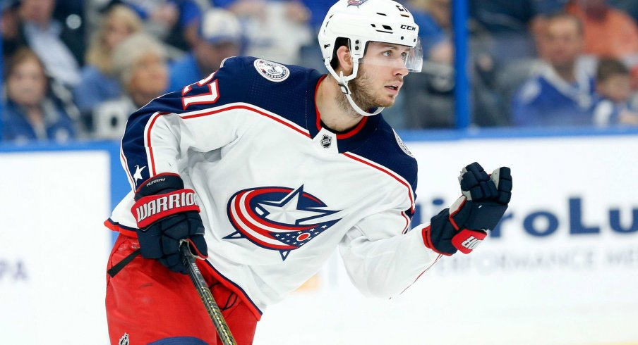 Ryan Murray missed 34 games with the Columbus Blue Jackets due to a lower body injury suffered in December.
