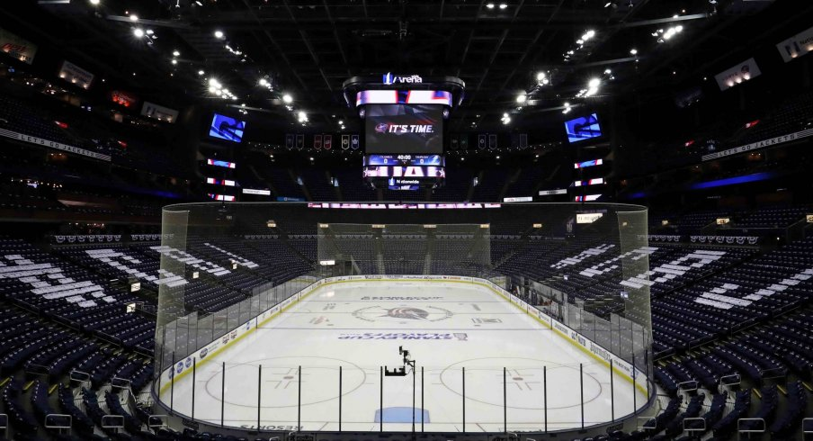 Nationwide Arena has been out of usage for Columbus Blue Jackets games since early March, and may not make a comeback if other city's arenas are used.