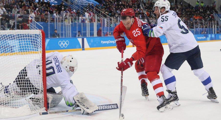 Mikhail Grigorenko at the Pyeongchang 2018 Olympic Winter Olympics