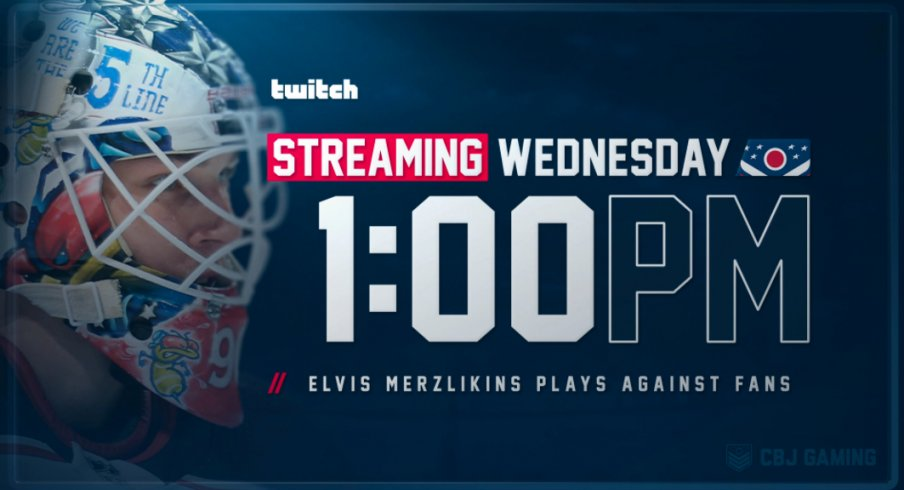 It's your chance, folks, to finally play against Elvis Merzlikins, Stinger and CBJ Gaming in NHL 20! Games will begin on Playstation Wednesday, April 29 at 1:00 p.m.