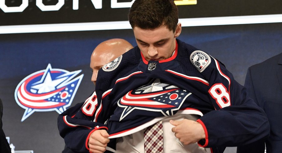 The Blue Jackets selected Liam Foudy in the 2018 NHL Draft