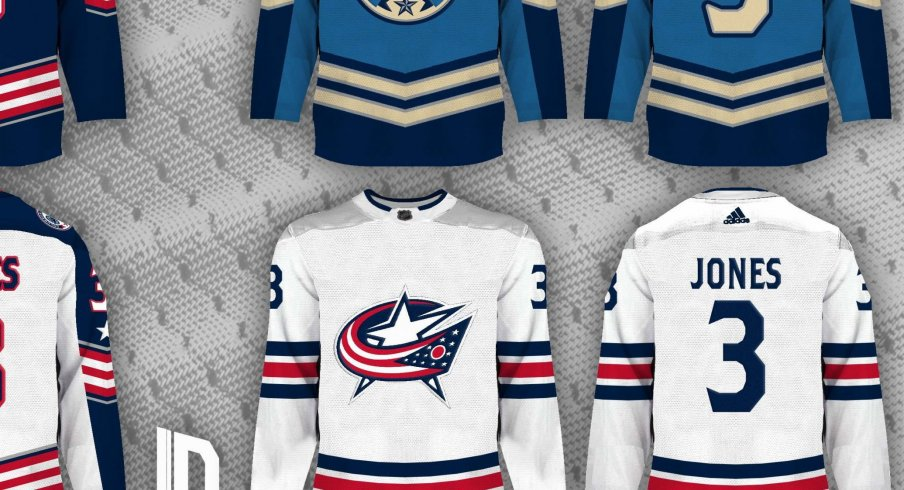 Columbus Blue Jackets color rush jersey concepts by Lucas Daitchman - should the team adopt these ideas?