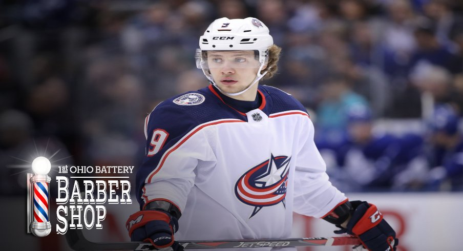 Columbus Blue Jackets left wing Artemi Panarin (9) during their game against the Toronto Maple Leafs at Scotiabank Arena.