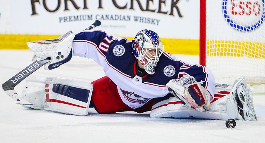 Joonas Korpisalo was huge for the Blue Jackets in Game 1, pitching his first playoff shutout.
