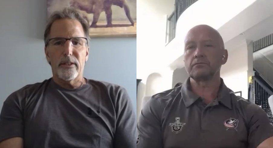Blue Jackets coach John Tortorella and general manager Jarmo Kekalainen