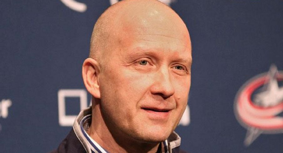 Jarmo Kekalainen speaks to the media