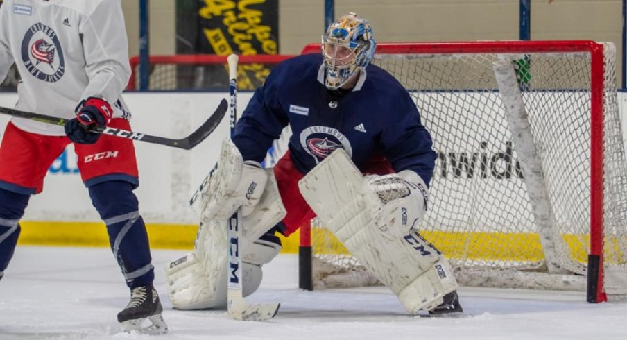 Daniil Tarasov skates at Blue Jackets development camp
