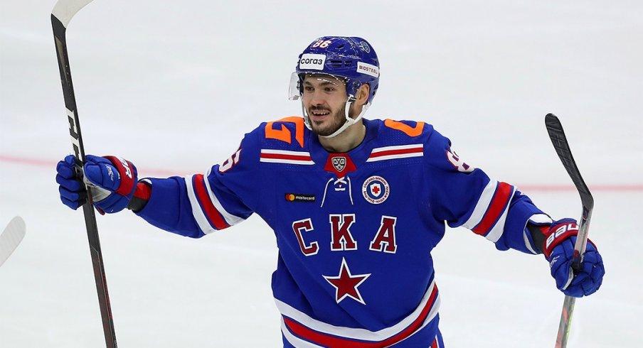Kirill Marchenko celebrates a goal