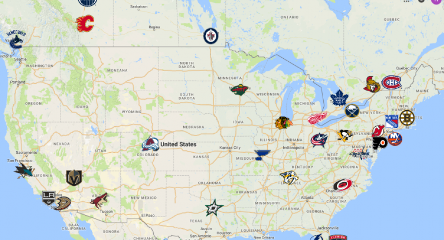 NHL Map