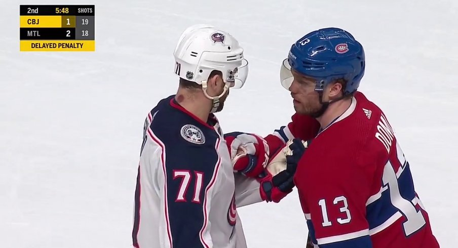 Nick Foligno and Max Domi