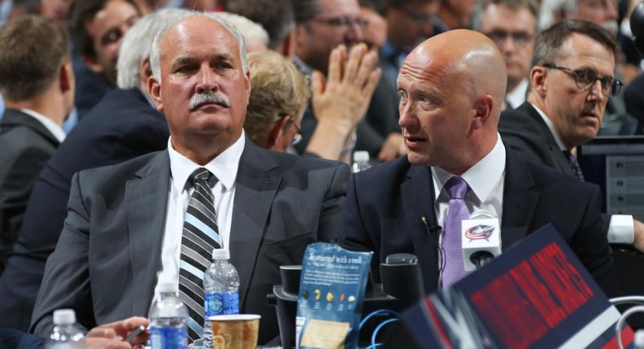 John Davidson and Jarmo Kekalainen discuss options at the NHL draft.