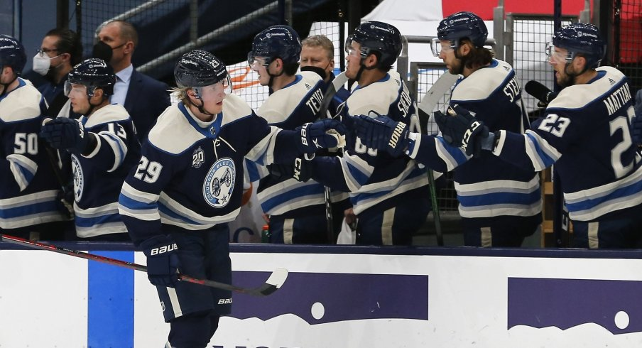 It's hard telling exactly what the Columbus Blue Jackets roster will look like come this fall, but hey, why not have some fun?