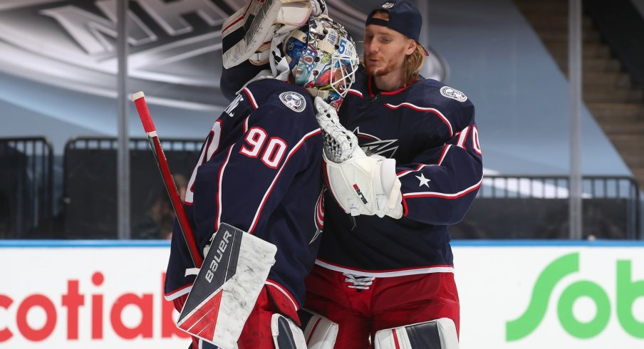 Joonas Korpisalo and Elvis Merzlikins were drafted two years apart; both have proven themselves as #1 goalies.