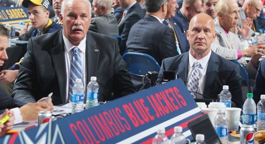 Jarmo Kekalainen and John Davidson at the NHL draft.