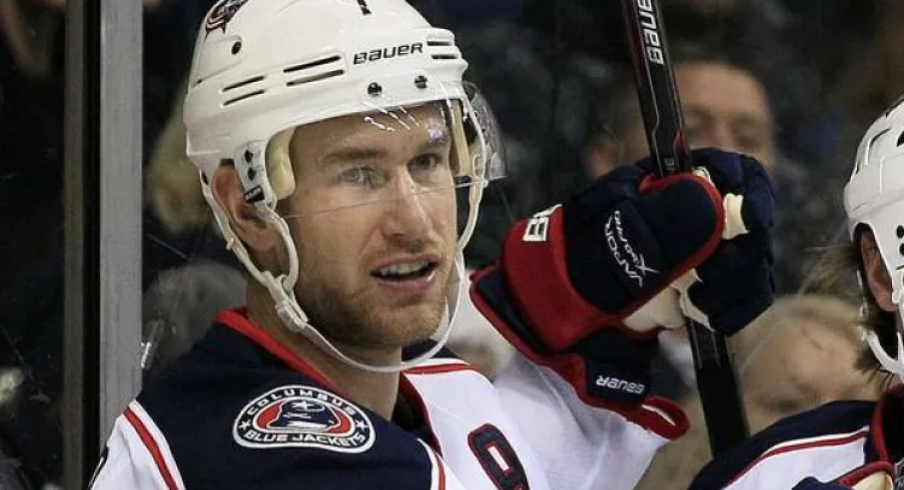 Jeff Carter, in one of his 39 games with the Blue Jackets, made it clear how he felt about Columbus.