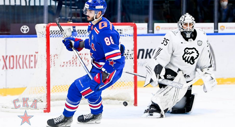 Kirill Marchenko scores in the shootout